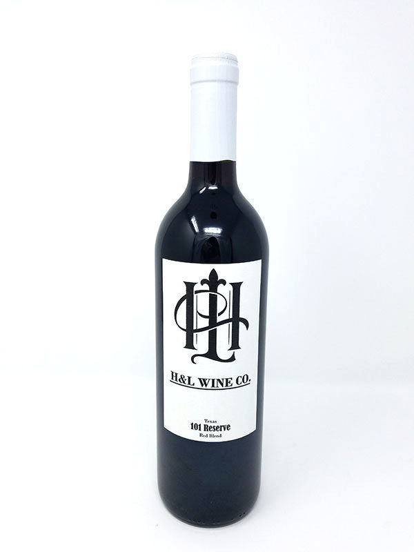 101 Reserve Dry Red Wine Bottle Pictured