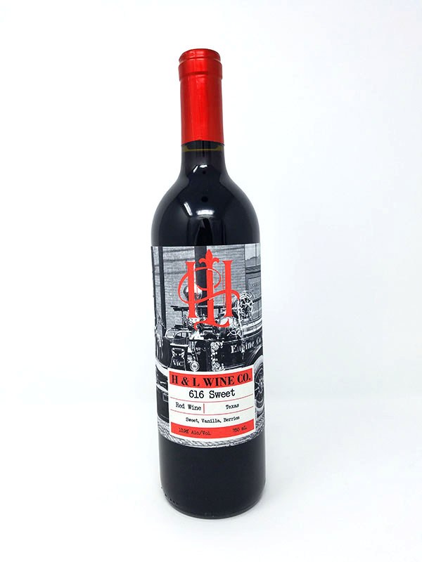 616 Sweet Red Wine Bottle Pictured
