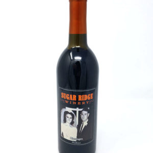 Red Wine Bottle pictured from local winery near me